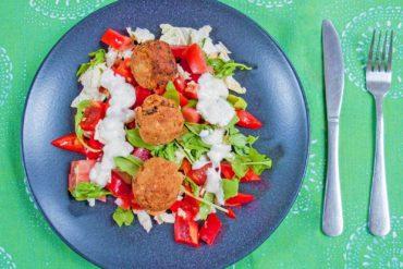 Falavel mit Salat