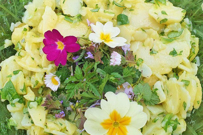 Wildkräuter-Kartoffelsalat